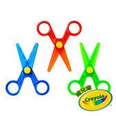 美國Crayola繪兒樂 幼兒安全造型剪刀3件組 麗翔親子館
