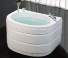 【麗室衛浴】BATHTUB WORLD  216  壓克力含牆造型缸 100*76*66公分