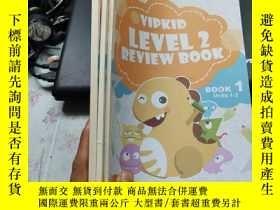 二手書博民逛書店VIPKID罕見LEVEL 2REVIEW BOOK 1 2 4 Units 1-6、10-12【3本合售】【看圖