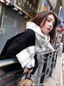 秋冬季圍巾正韓女士加厚學生保暖披肩百搭仿羊絨格子圍脖兩用 艾莎嚴選
