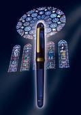 Platinum 白金3776系列14K鋼筆PNB-10000#51教堂藍