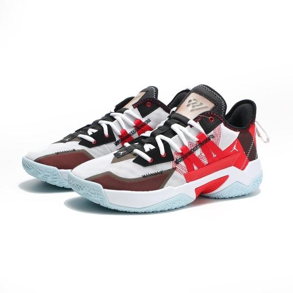 NIKE 籃球鞋 AIR JORDAN ONE TAKE 2 PF 黑灰 紅 白 男 (布魯克林) CW2458-106