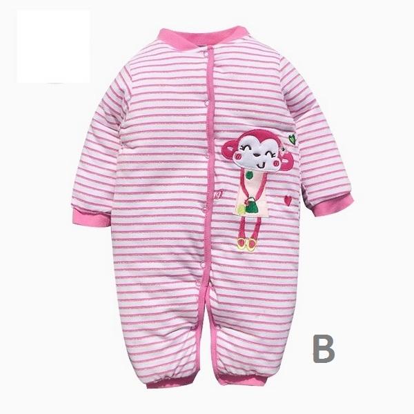鋪棉加厚寶寶連身衣 嬰兒兔裝 長袖保暖童裝 CAR22419 好娃娃