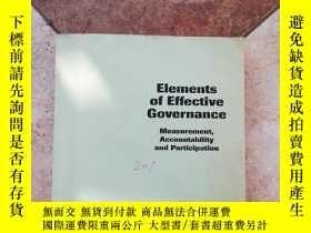 二手書博民逛書店Elements罕見of Effective Governanc