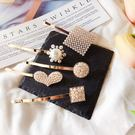 髮飾 幾何 珠珠 愛心 造型 一字夾 氣質 髮夾 邊夾 髮飾【DD1812115】 BOBI  03/07