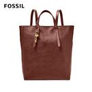 FOSSIL CAMILLA 真皮三用後背包 (可置入13吋筆電)-酒紅色 ZB7517227