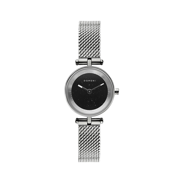 DOMENI COMPANY 星空黑腕錶 經典米蘭錶帶-時尚銀(22mm/SLW01SD-M)