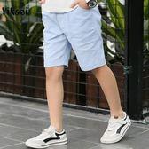 短褲 男童五分褲夏季薄款兒童休閒褲潮中大童短褲寬鬆中褲 艾美時尚衣櫥
