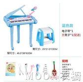電子琴初學1-3歲寶寶多功能音樂彈琴兒童玩具女孩帶話筒可唱歌YYJ   MOON衣櫥