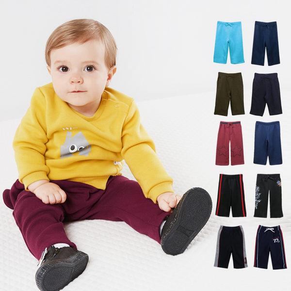 長褲 刷毛褲 保暖內刷毛褲 男女童 寶寶 素色好搭 滾邊 多色
