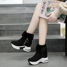 短靴 內增高8cm 雪地靴冬季新款加絨棉鞋女皮毛一體防水防滑短靴 韓菲兒