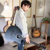 吉他初學者學生女男通用38寸新手入門練習樂器成人民謠木吉它   初見居家