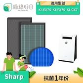 綠綠好日 HEPA濾芯 顆粒活性碳 適 SHARP KI-EX75 FX75 GX75 HX75 JX75 WF75 J75YX