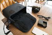 ELECOM單肩單反休閒相機包佳能尼康戶外斜挎攝影包微單便攜包S031 米希美衣