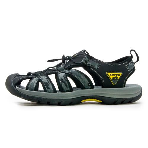 LIKA夢 LOTTO 專業護趾運動涼鞋 冒險者系列 迷彩黑 6110 男