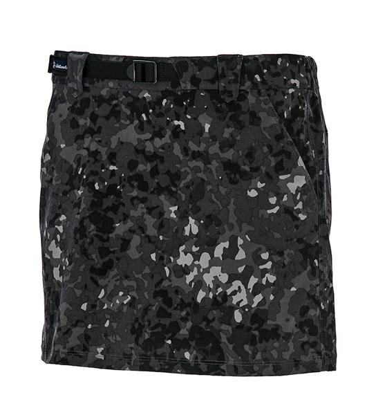 荒野 WILDLAND 女款彈性抗UV功能印花褲裙 0A71353 迷彩灰 排汗裙 登山裙 休閒裙 OUTDOOR NICE