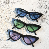 眼鏡 韓版新品復古百搭三角框太陽鏡貓眼墨鏡女潮配近視墨鏡男