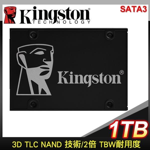 【南紡購物中心】Kingston 金士頓 KC600 1TB 2.5吋 SATA SSD【五年保】SKC600/1024G