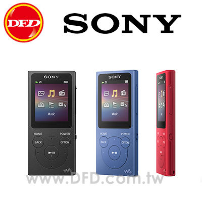SONY NW-E394 Walkman 數位隨身聽 Dynamic Normalizer 聲音效果 公司貨 (不羈黑/帥性藍/魅子紅)