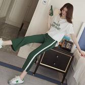 【GZ7R】寬褲套裝港味時尚休閒運動服短袖時髦兩件套