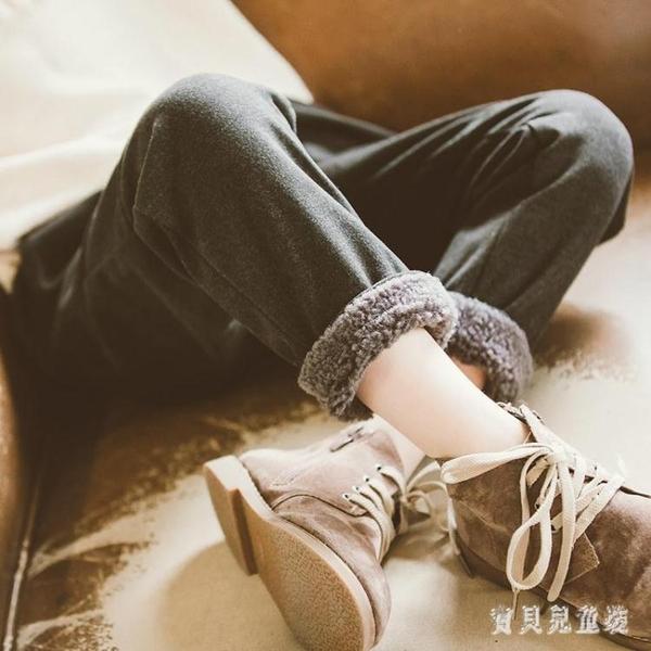 女童加絨加厚褲子2019新款長褲洋氣秋冬大童休閒冬外穿兒童運動褲 YN2392『寶貝兒童裝』