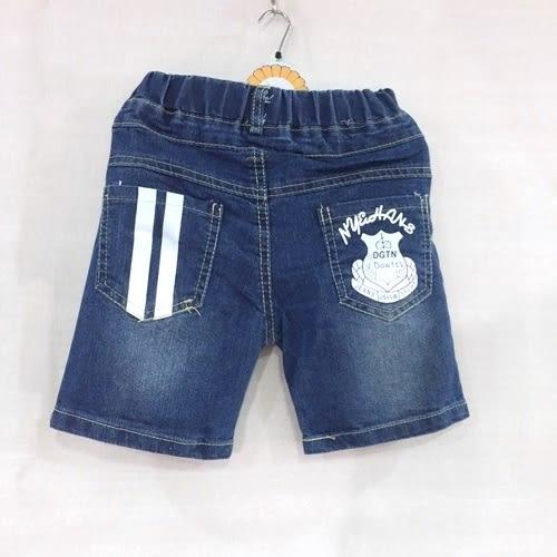 ☆棒棒糖童裝☆(B902822)夏男童鬆緊腰帥氣口袋印花牛仔中褲 5-15