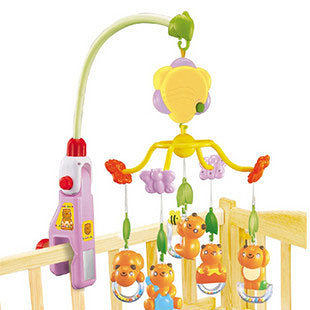 小熊之家床鈴掛鈴 音樂轉轉樂 音量可調 寶寶最愛嬰兒玩具