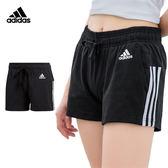 Adidas Ess Entials 女 黑 短褲 運動短褲 愛迪達 三線 慢跑褲 棉褲 休閒 排汗 愛迪達短褲 BR5963