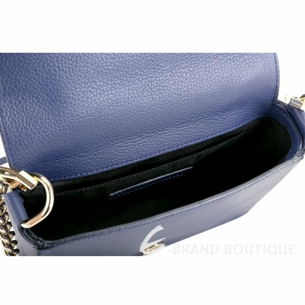 Rebecca Minkoff Mab Flap 金勾釦皮革兩用鍊帶包(深藍色) 1840258-34