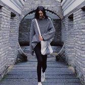 【GZ82】慵懶風針織衫女 秋冬新款劉雯明星同款寬鬆條紋BF套頭毛衣外穿