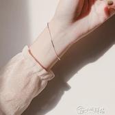 手鍊 銀冷淡風手鍊小眾設計女韓版簡約學生森系閨蜜個性手飾