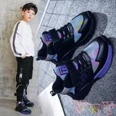 男童鞋子秋冬潮運動鞋加絨兒童鞋【聚可愛】