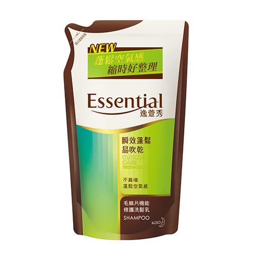 逸萱秀 瞬效蓬鬆易吹乾洗髮乳補充包550ML【花王旗艦館】