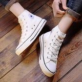 (全館一件免運)DE shop~(GG-1251)高筒小白鞋熱賣款帆布鞋