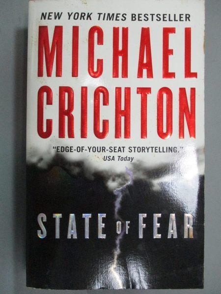 【書寶二手書T7/原文小說_LHC】State Of Fear_Michael