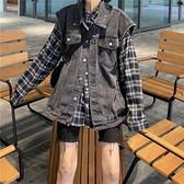 韓版寬松牛仔馬甲外套女春秋2021年新款無袖坎肩夏季薄款外穿背心 錢夫人