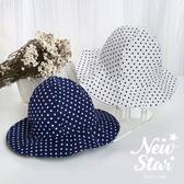台灣製NEW STAR百搭水玉點點嬰幼兒遮陽漁夫帽 適頭圍46-50cm