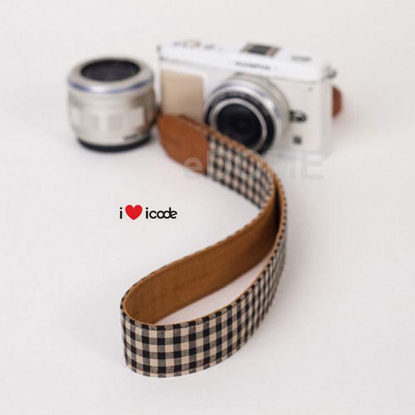 icode Public 30 韓國幸運草相機背帶 黑格子 (湧蓮國際公司貨) 彩色亮麗肩帶