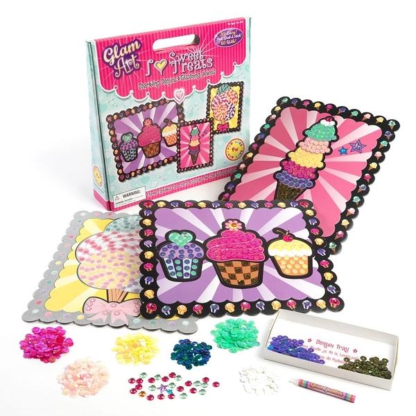 [楷樂國際] 拼貼藝術-我愛甜食 Glam Art - I Love Sweet Treats #Fubulous Wubulous 兒童 益智遊戲 亮片 手工藝
