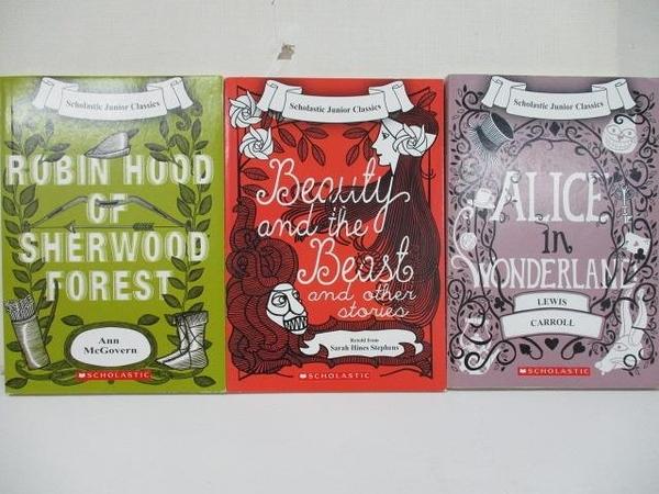 【書寶二手書T8/原文小說_CG4】Alice In Wonderland_Robin Hood of Sherwood…3本合售