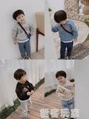 寶寶連帽T恤圓領韓版新款春秋裝男童小童潮寶寶假兩件上衣洋氣款 極客玩家