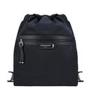【南紡購物中心】LONGCHAMP GREEN DISTRICT系列ECONYL認證再生尼龍前口袋束口後背包(黑)