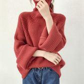 網紅套頭高領毛衣女新款冬洋氣很仙的上衣寬松百搭加厚針織衫 LN7105【潘小丫女鞋】