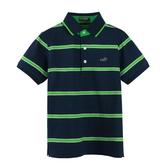 『小鱷魚童裝』撞色條紋POLO衫(08號~20號)533107