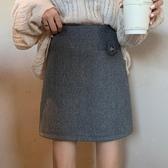 秋冬上新大碼女裝高腰毛呢半身裙女秋冬新款胖mm大碼百搭顯瘦減齡防走光呢子包臀裙