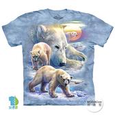 【摩達客】(預購)(大尺碼3XL)美國進口The Mountain 日出北極熊 純棉環保藝術中性短袖T恤