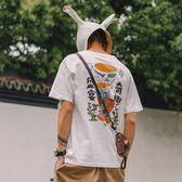 短袖T恤 新款夏季ins短袖t恤男純棉寬鬆潮流情侶裝體恤半袖衣服