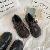 軟妹可愛小皮鞋日系圓頭女學生百搭娃娃鞋平底學院風JK鞋子制服鞋