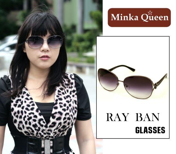 Minka Queen 帥氣飛揚黑色金屬框(抗UV400)時尚個性雷朋太陽眼鏡