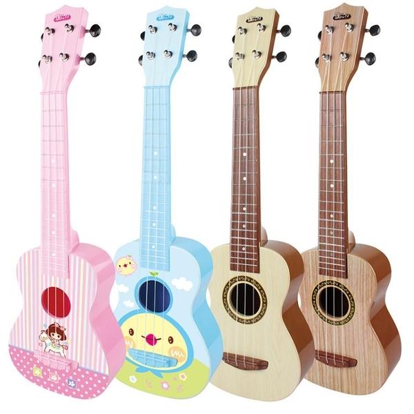 寶麗尤克里里初學者兒童迷你小吉他玩具可彈奏樂器1-3歲男孩女孩   color shopYYP